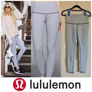 Lululemon Wunder Under gray herringbone leggings 8
